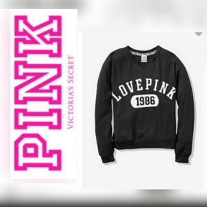 💕VS PINK NOTCH NECK SLOUCHY CREW SWEATSHIRT
